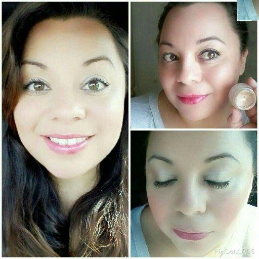 Younique Splurge eyeshadow in Elegant and lip stain in Shy.