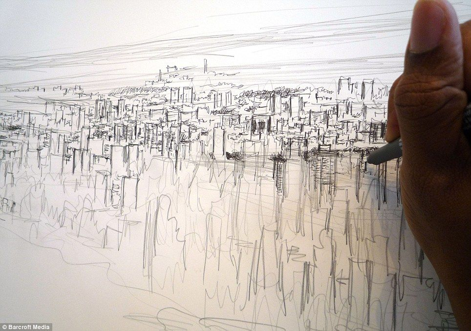 Line Drawing Nyc : Autistic artist stephen wiltshire draws spellbinding 18ft picture of