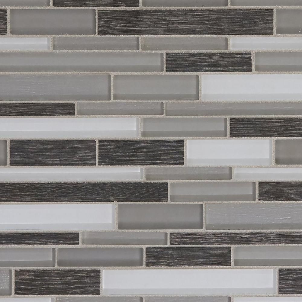 Floor And Decor Glass Tile Acadia Bay Linear Glass Mosaic  14Inx 11In 100249291  Floor