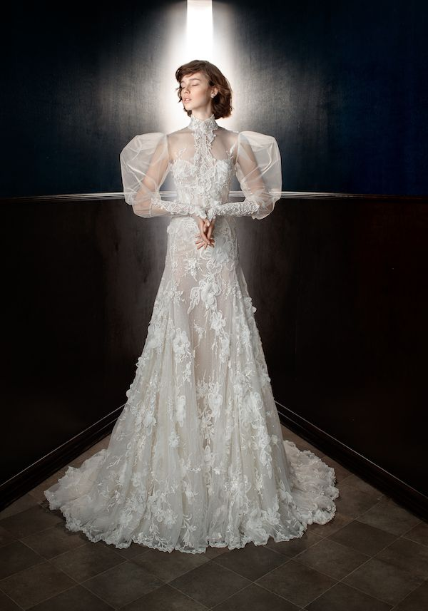 Our favorite wedding dresses from bridal fashion week featuring gowns by  Marchesa b0d693ffc2c7