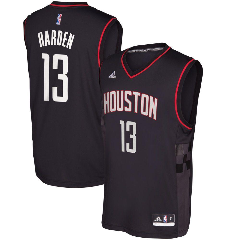 bf3f050cb James Harden Houston Rockets adidas Alternate Replica Jersey - Black ...