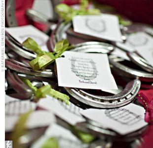 The Favors Horseshoe WeddingHorseshoe IdeasRustic WeddingWedding FavoursCountry