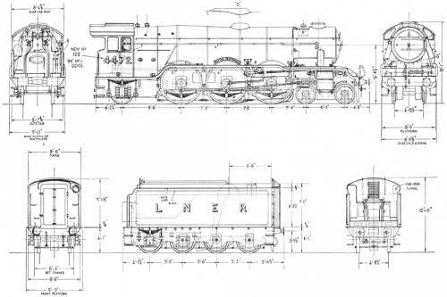 Blueprints > Trains > Trains E-G > Flying Scotsman LNER