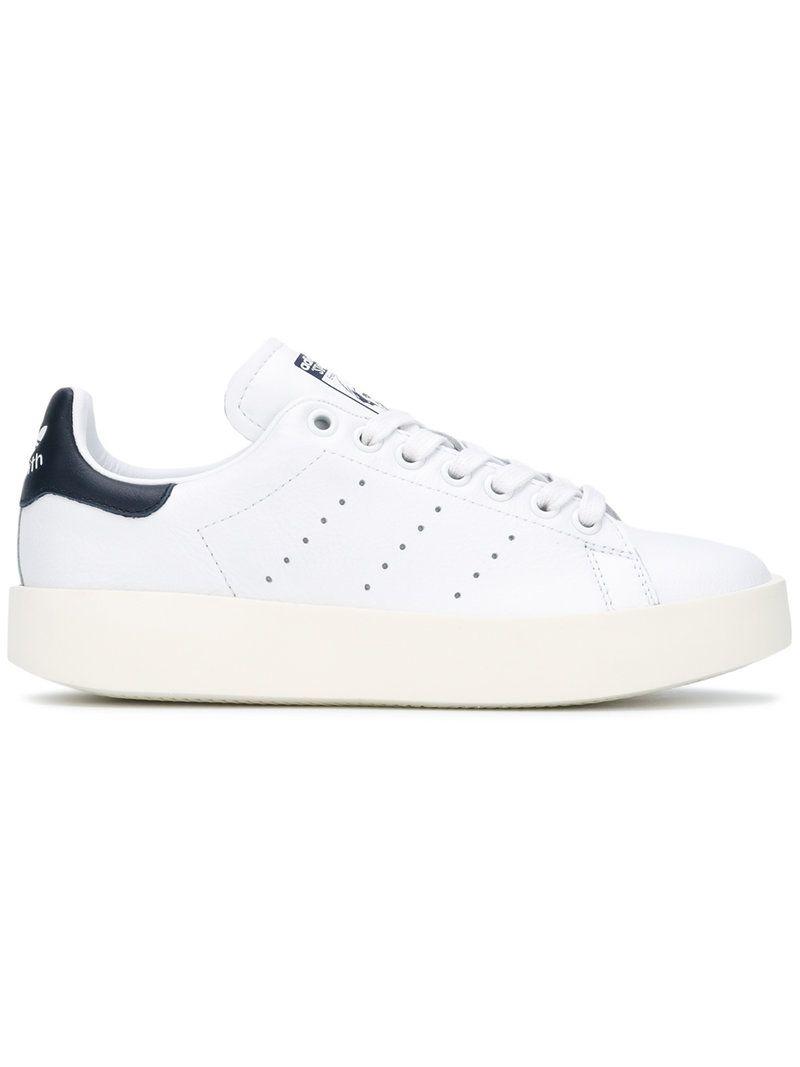 Haz clic para ver los detalles. Envíos gratis a toda España. Adidas - Stan  Smith Bold Sneakers - Women - Cotton Leather Rubber - 6.5  White and navy  ... af6adbd13