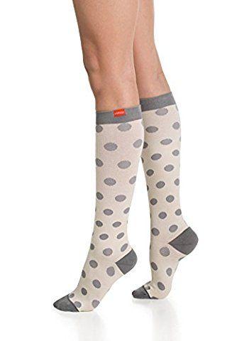5d92044211 Vim & Vigr 15-20 mmHg Graduated Compression Socks - Cotton Collection - M -  Cream & Grey
