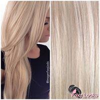 Foxy Locks Platinum Blonde Extensions