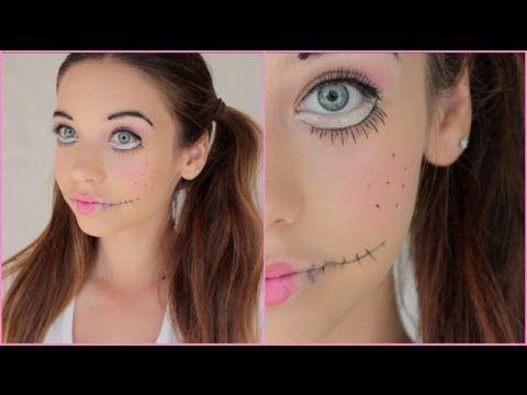 Creepy Doll Halloween Makeup Tutorial! Dance Makeup Ideas - easy makeup halloween ideas
