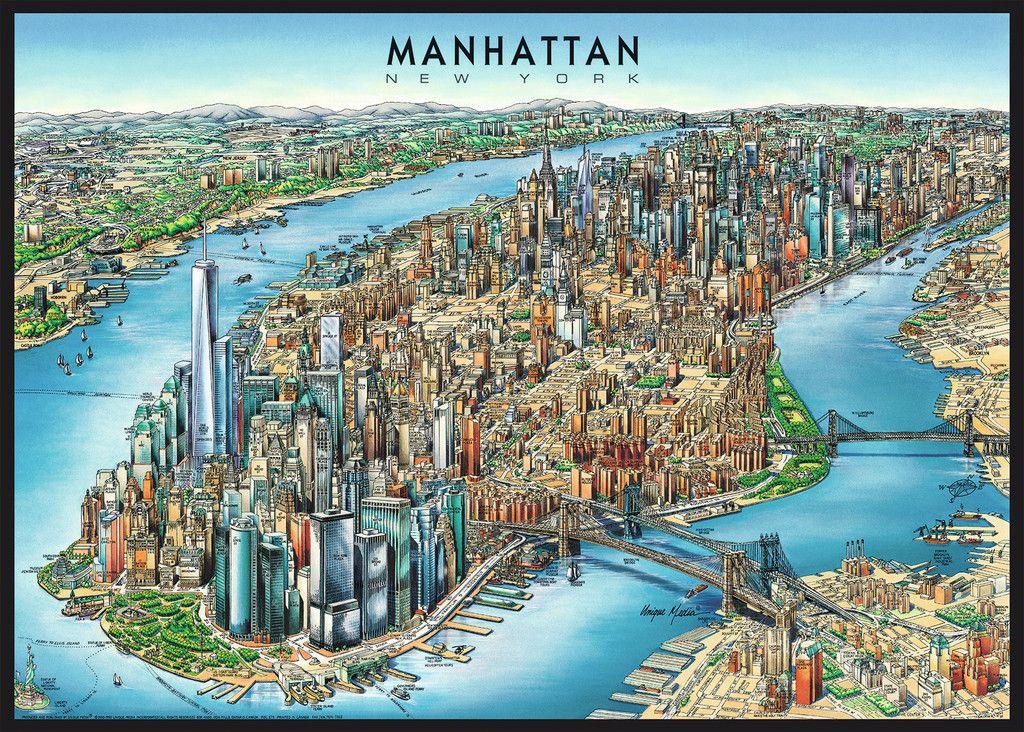 Manhattan Map 1000pc Jigsaw Puzzle By Ravensburger