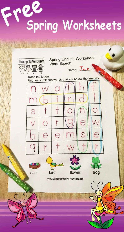 We just added several free spring worksheets. We hope you like ...