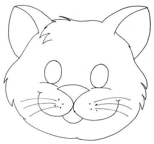 Moldes De Dibujos De Gatos En Foami Imagui Kids Crafts Masks Printable Animal Masks Printable Halloween Masks