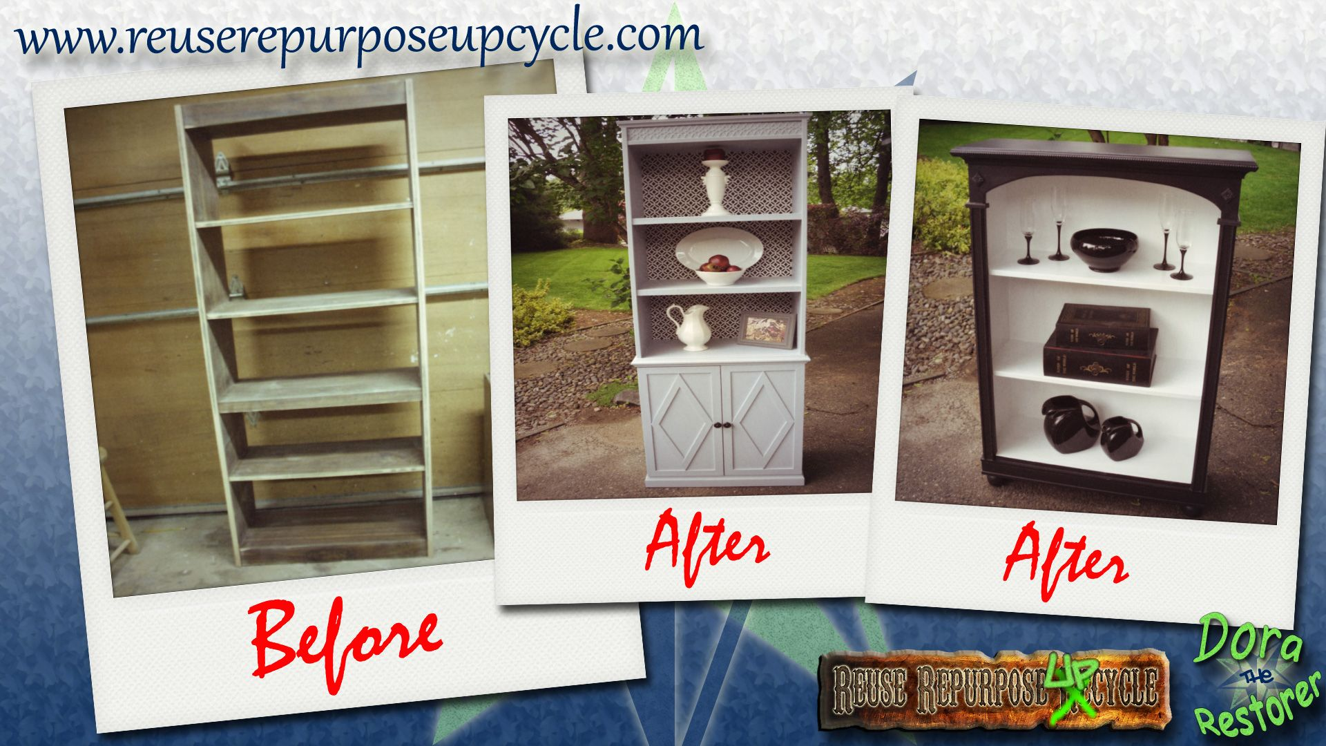 Repurposed Furniture Before And After Bookcase Two Sets Of Bookcases Upcycled