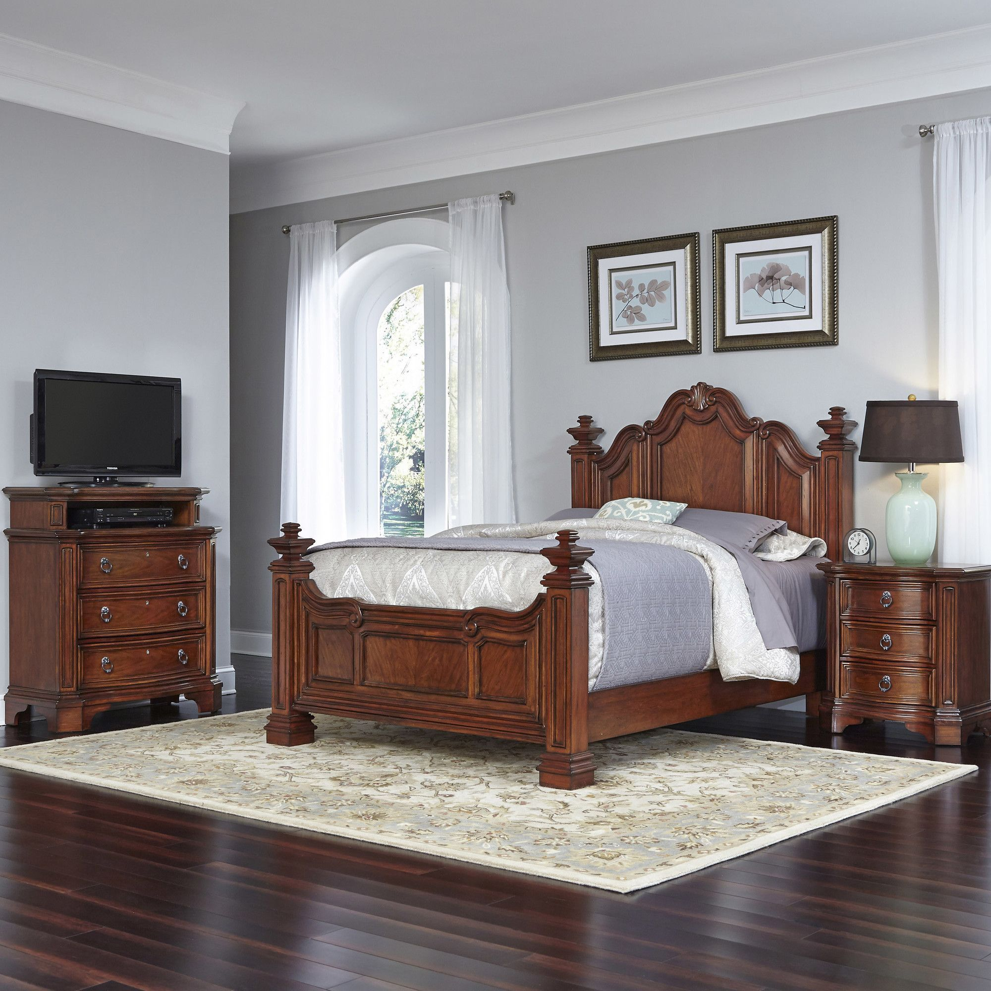 Best Santiago Panel 3 Piece Bedroom Set Products Bedroom 640 x 480