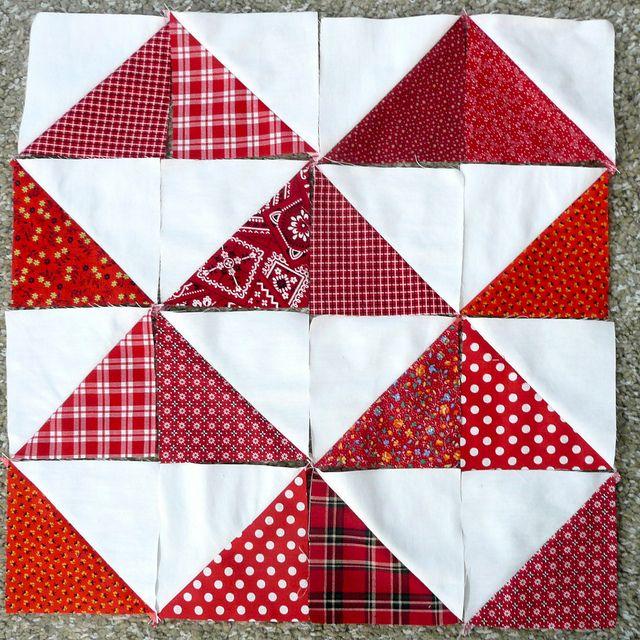 Half Square Triangle Quilt Blocks Quilting Pinterest Half