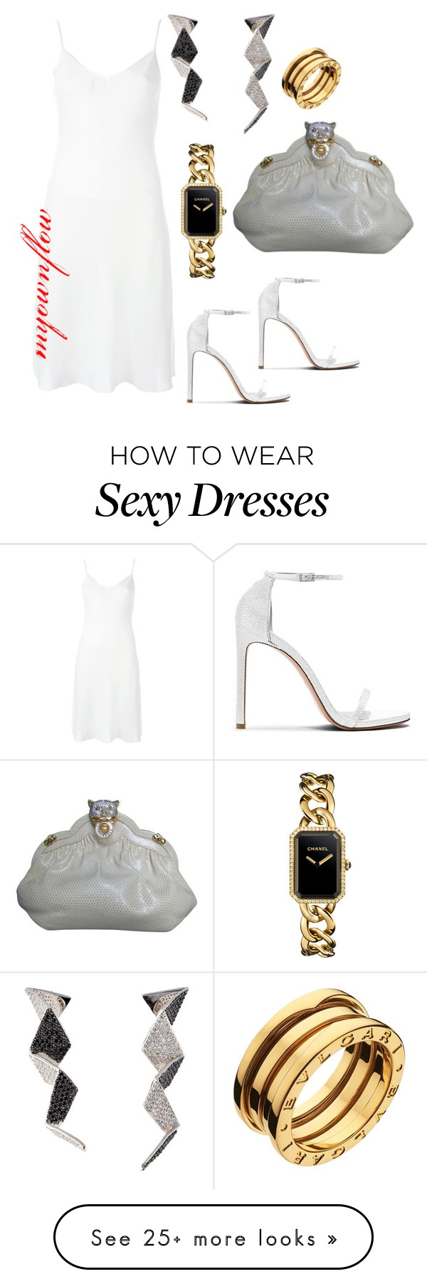 """TOO SEXY FOR WHITE"" by myownflow on Polyvore featuring Givenchy, Eddie Borgo, Chanel and Bulgari"