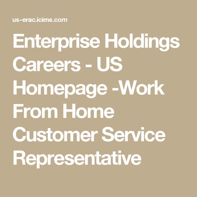 Enterprise Holdings Careers  Us Homepage Work From Home Customer