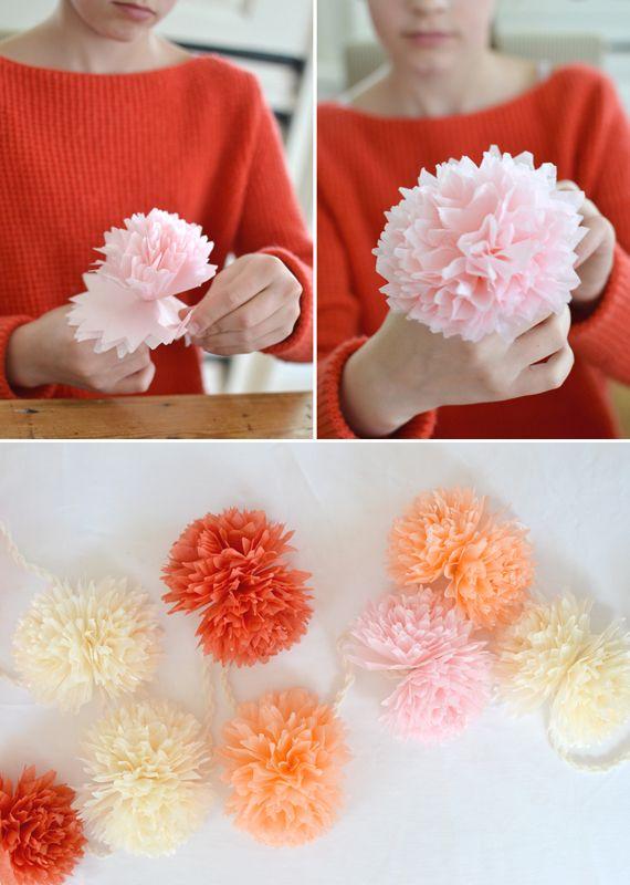 Tissue paper flower garland summer garden tissue paper and garlands tissue paper flower garland mightylinksfo