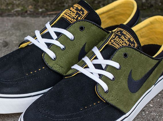 26fb58b3a28a Nike SB Stefan Janoski - Black - Logan Green - Laser Orange ...