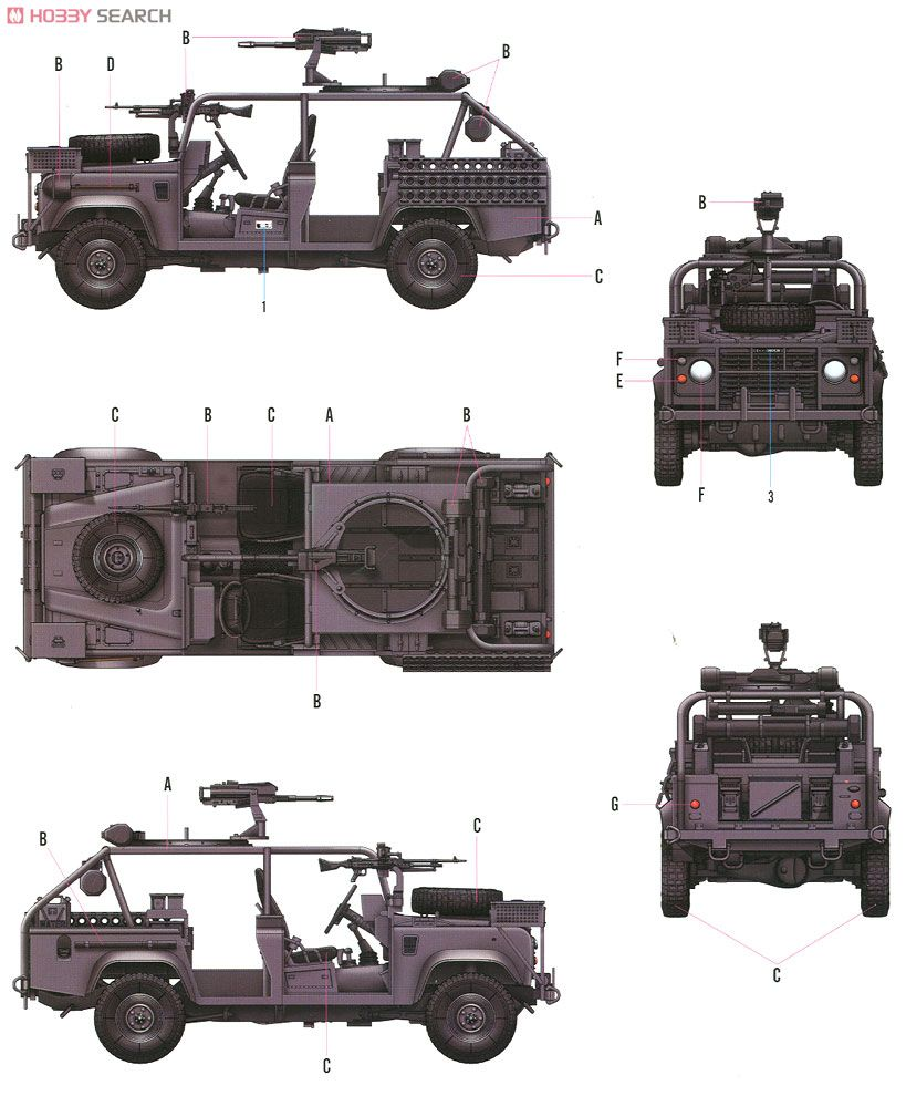 British. Special Air Service LAND ROVER