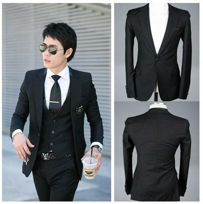 Free Shipping Fashion Men Suit Top South Korean Style Slim & Fit ...