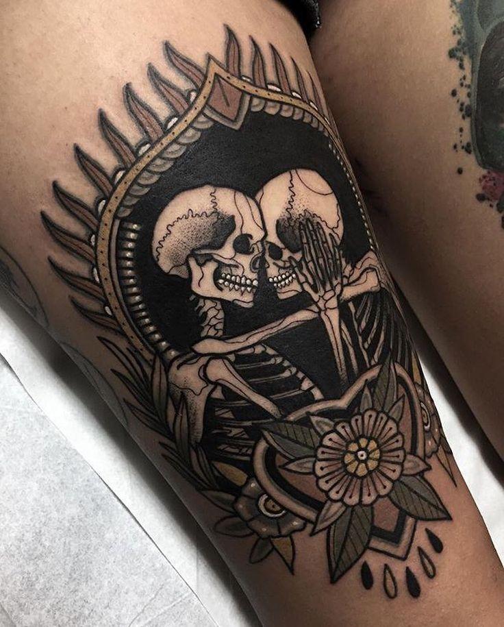 Photo of #tattoo par @hellville_arts … … … … #tradit … – #hellvillearts #Tattoo …