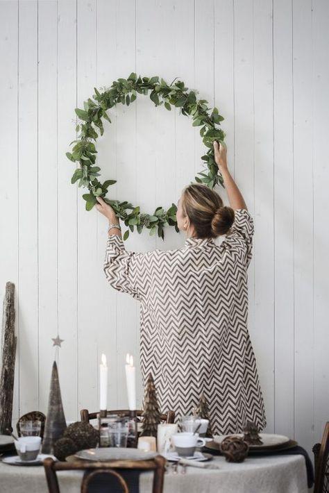 Eucalyptus kerstdecoratie #kerstdeco Eucalyptus kerstdecoratie #adventkransen