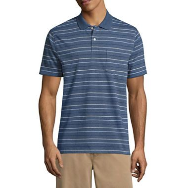 4a91fefeb87 Buy St. John's Bay® Short Sleeve Stripe Jersey Polo Shirts today at jcpenney.com.  You deserve great deals and we've got them at jcp!
