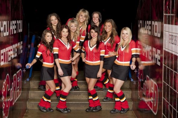 Nhl Calgary Flames Fire Ice Crew Round 2 Calgary Flames Ice Girls Calgary