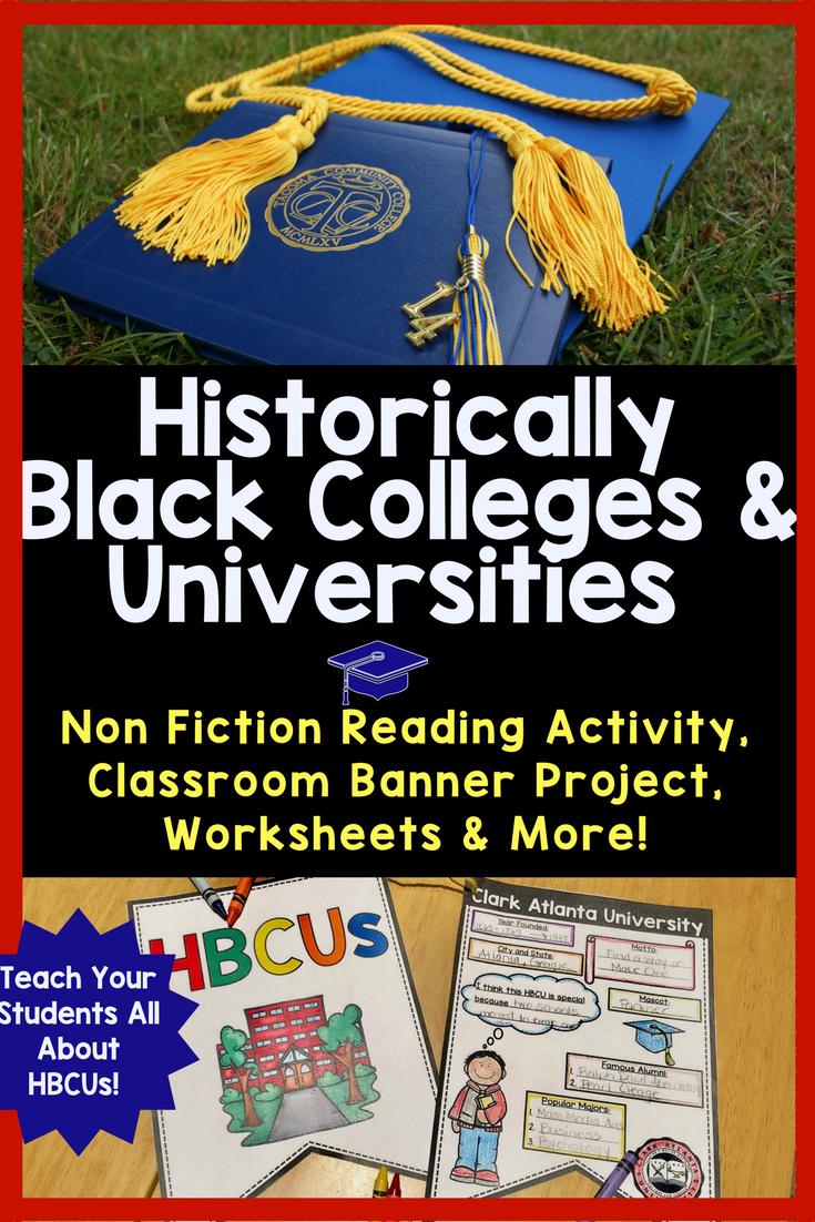 Historically Black College University Hbcu Reading Comprehension Historically Black Colleges College Lesson Plans Teacher Created Resources [ 1102 x 735 Pixel ]