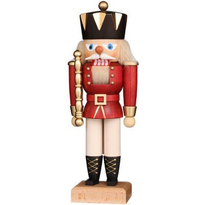 Christian Ulbricht Decorative Nutcrackers have long been a staple of the holiday season.  Christian Ulbricht Nutcrackers are exquisitely constructed and offer a new and creative spin on the traditional holiday favorite.  This line of nutcrackers offers specific options for every interest!  The Medium Red King Nutcracker is finely crafted and hand painted!