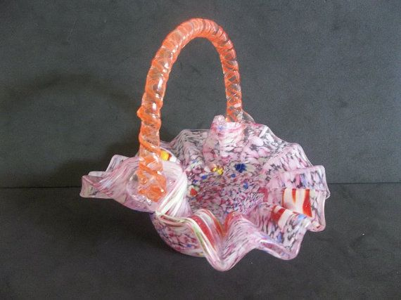 Gorgeous Antique End of Day  Spatter Candy by BishopsAntiqueGlass, $75.00
