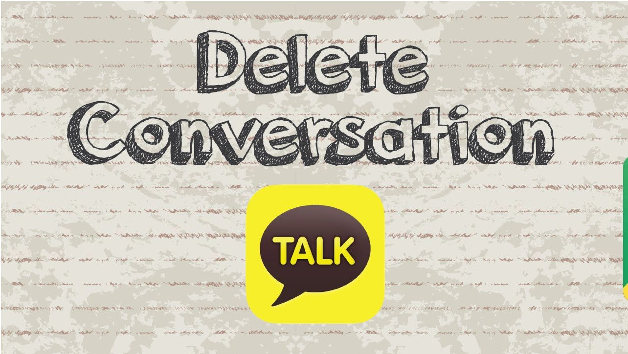 How to delete conversation / chat on Kakaotalk video