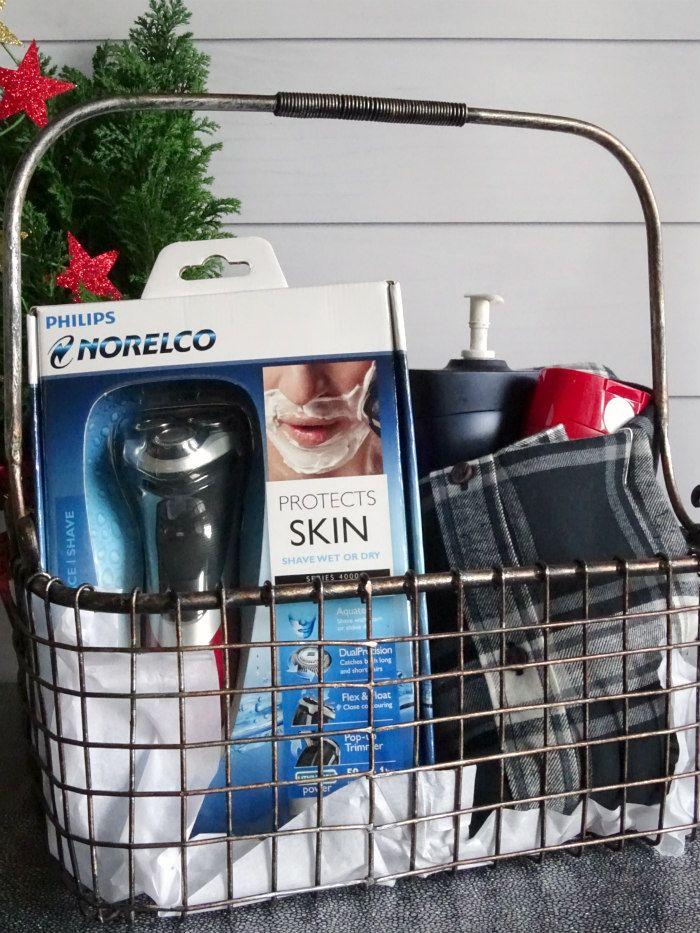 make this diy bath body gift basket for men this christmas for the guy who has everything giftofphilips ad - Christmas Gifts For The Man Who Has Everything