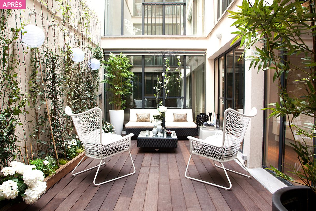 transformer et v g taliser un patio terrasses balcons petit patio veranda et balcon. Black Bedroom Furniture Sets. Home Design Ideas