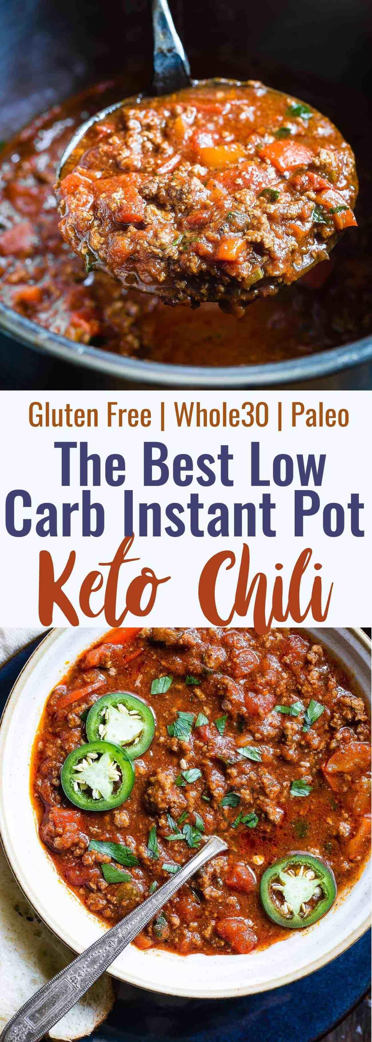 No Bean Whole30 Keto Chili in the Instant Pot (Paleo) | Food Faith Fitness, Baking #Bean #Chili #Fai...