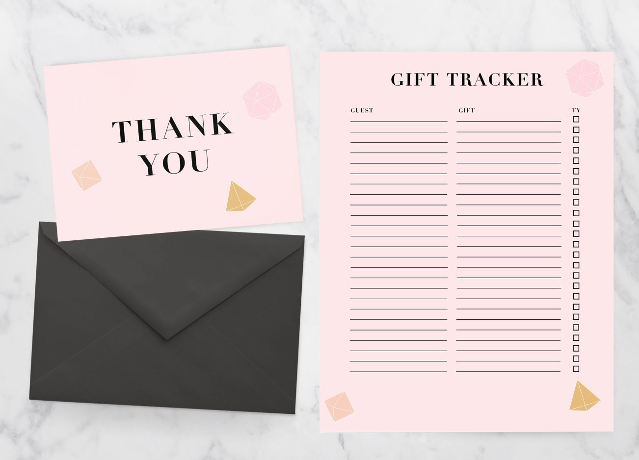 free printable thank you cards  u0026 gift tracker by saltwater designs  shopsaltwaterdesigns com