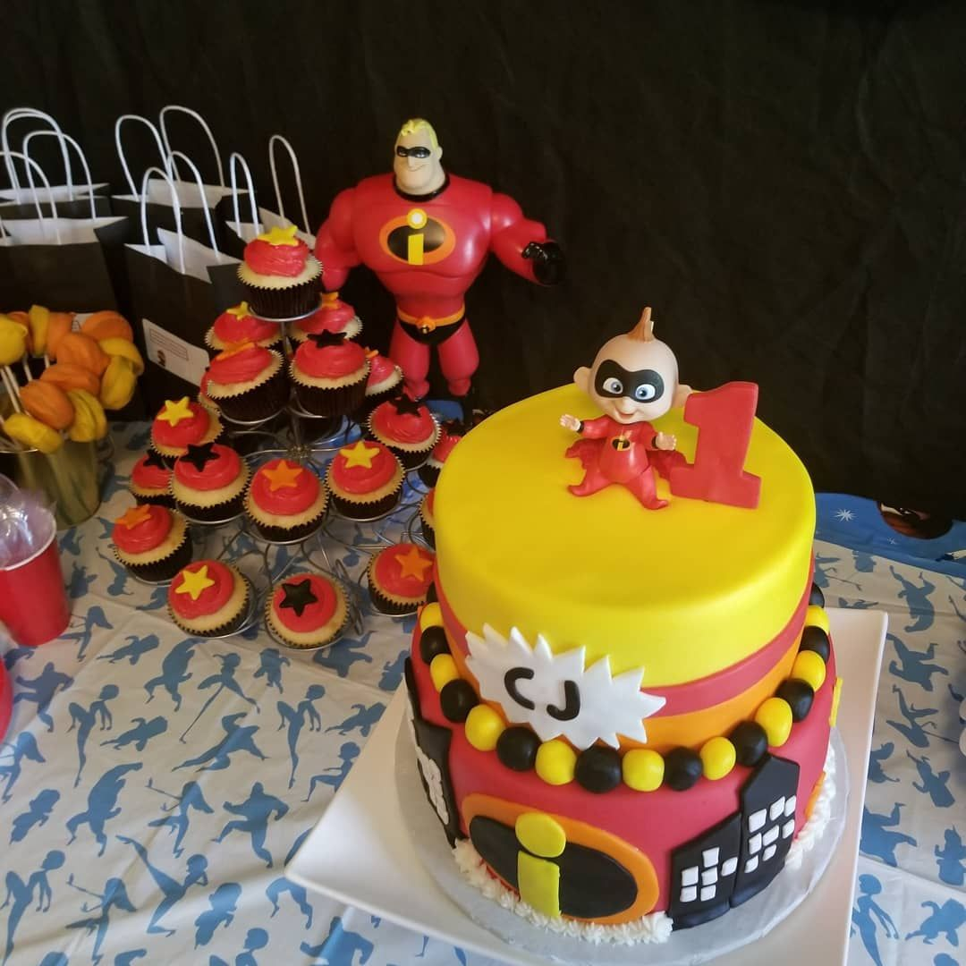 It's my CJ's first birthday! His parents think he looks like Jack Jack from the incredibles! Lol! I had fun making his birthday and