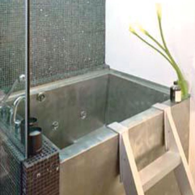 tiny japanese soaking tub. Obsessed with Japanese baths  bathrooms Pinterest