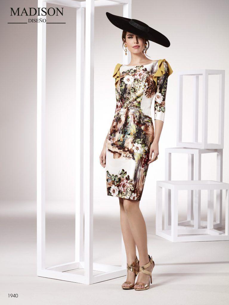 1425c91c1 vestido de fiesta estampado corto manga larga