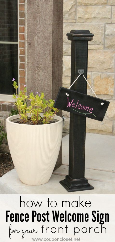 Frugal diy homemade welcome sign for your front porch for Country porch coupon code