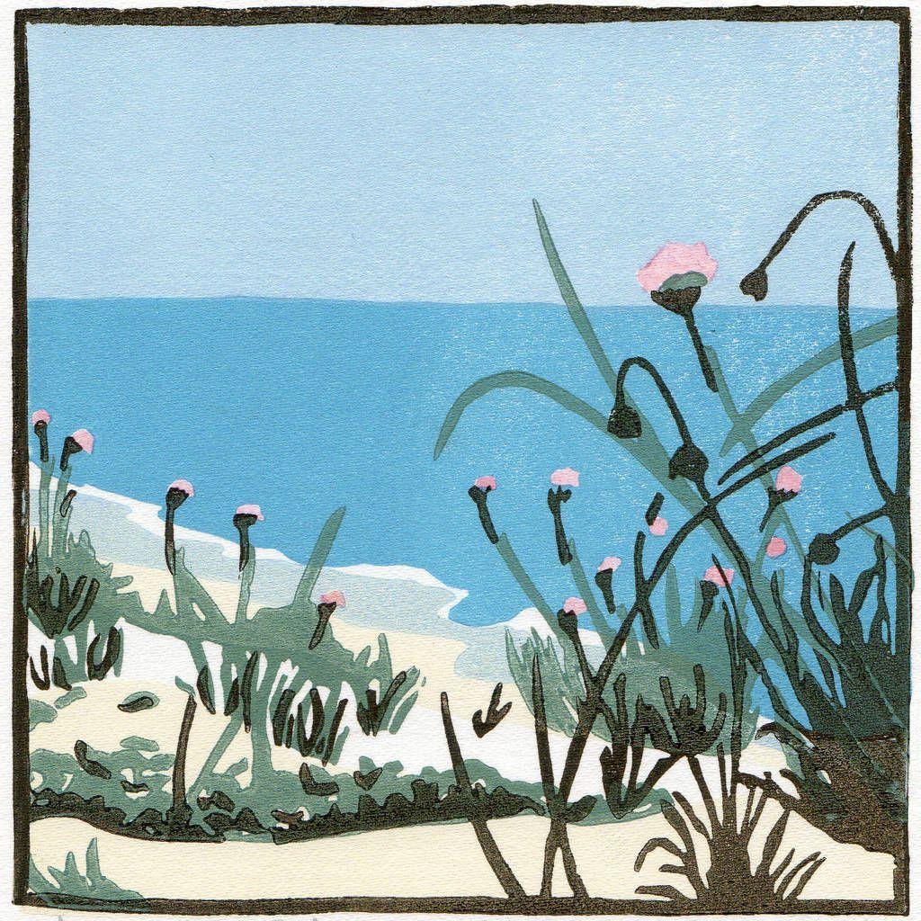 Coastal flowers art print sea pinks on the dunes landscapes in coastal flowers art print sea pinks on the dunes mightylinksfo Image collections