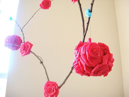 Crepre Paper Rose Tree