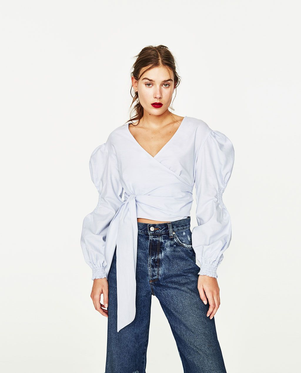 831d3c9938baf8 Shirts Women | New Collection | ZARA United States | Shapes in 2019 ...