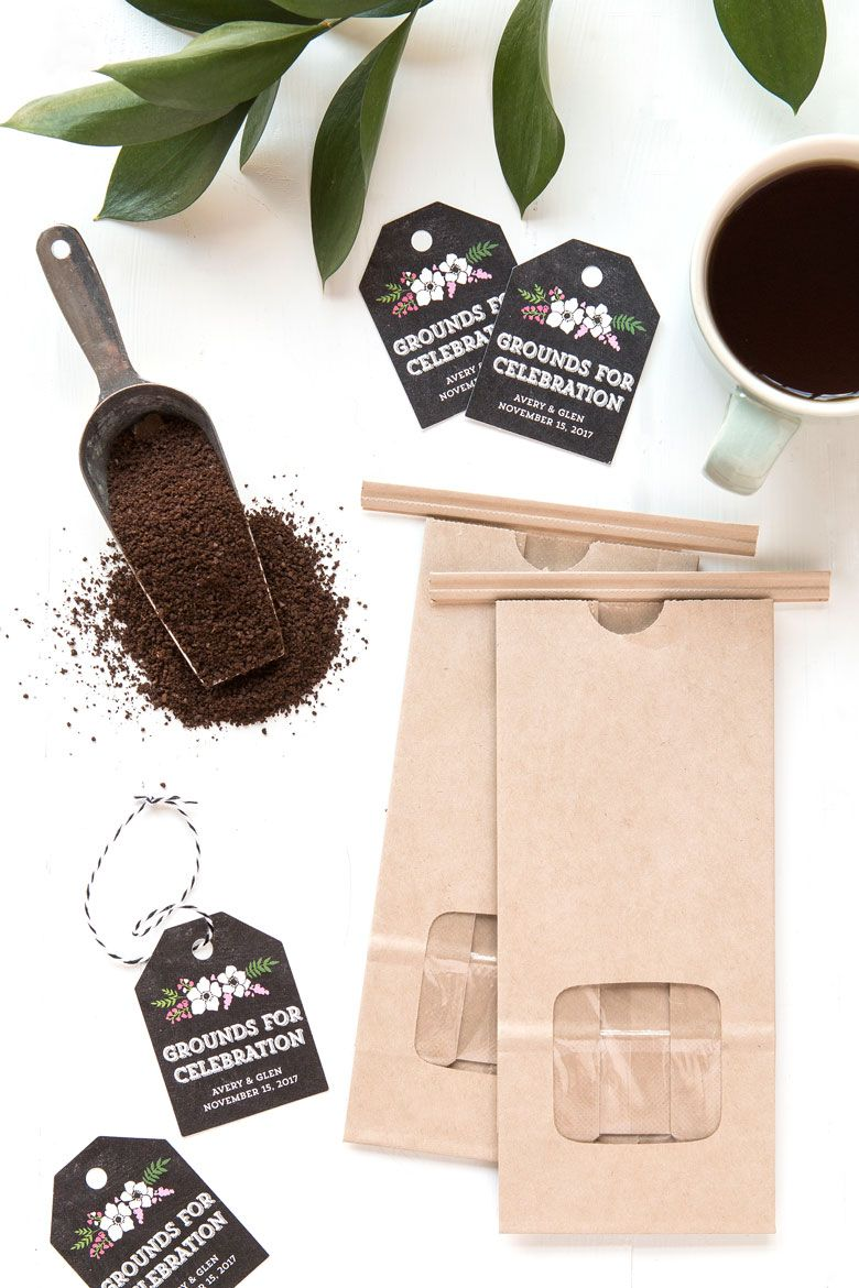 Grounds for Celebration Coffee Wedding Favors Coffee