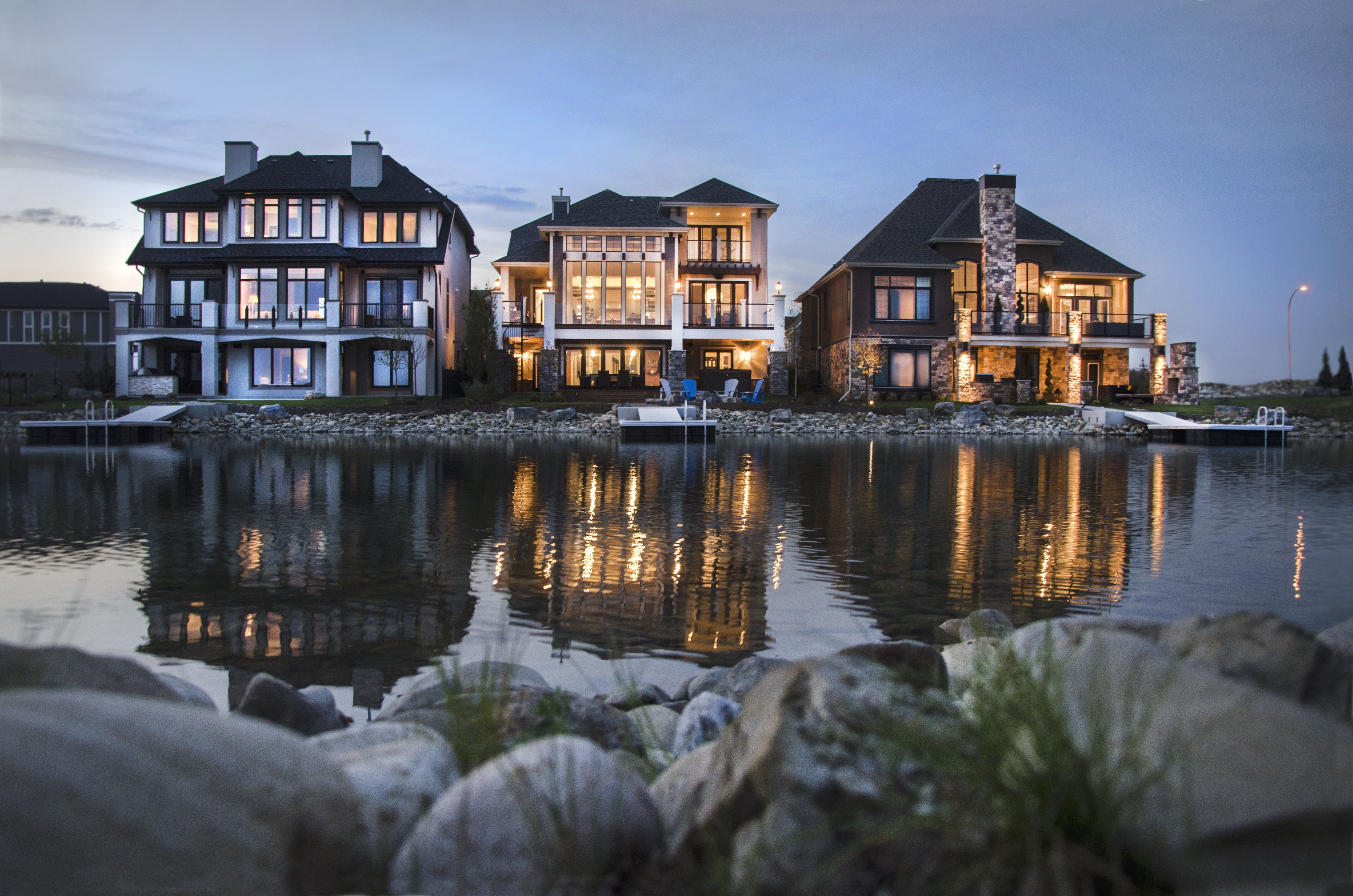 Lakefront estate show homes by Calbridge, Morrison and Baywest. #HopewellResidential #estate #showhomes #Mahogany