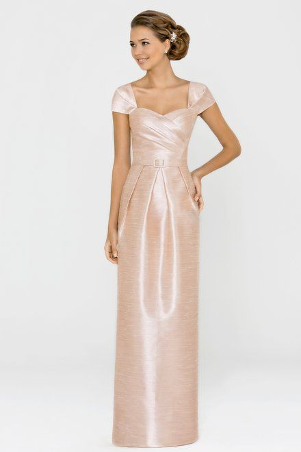 Style 140l Bridesmaid Dress By Alexia Designs Shantung With Box Pleated Skirt