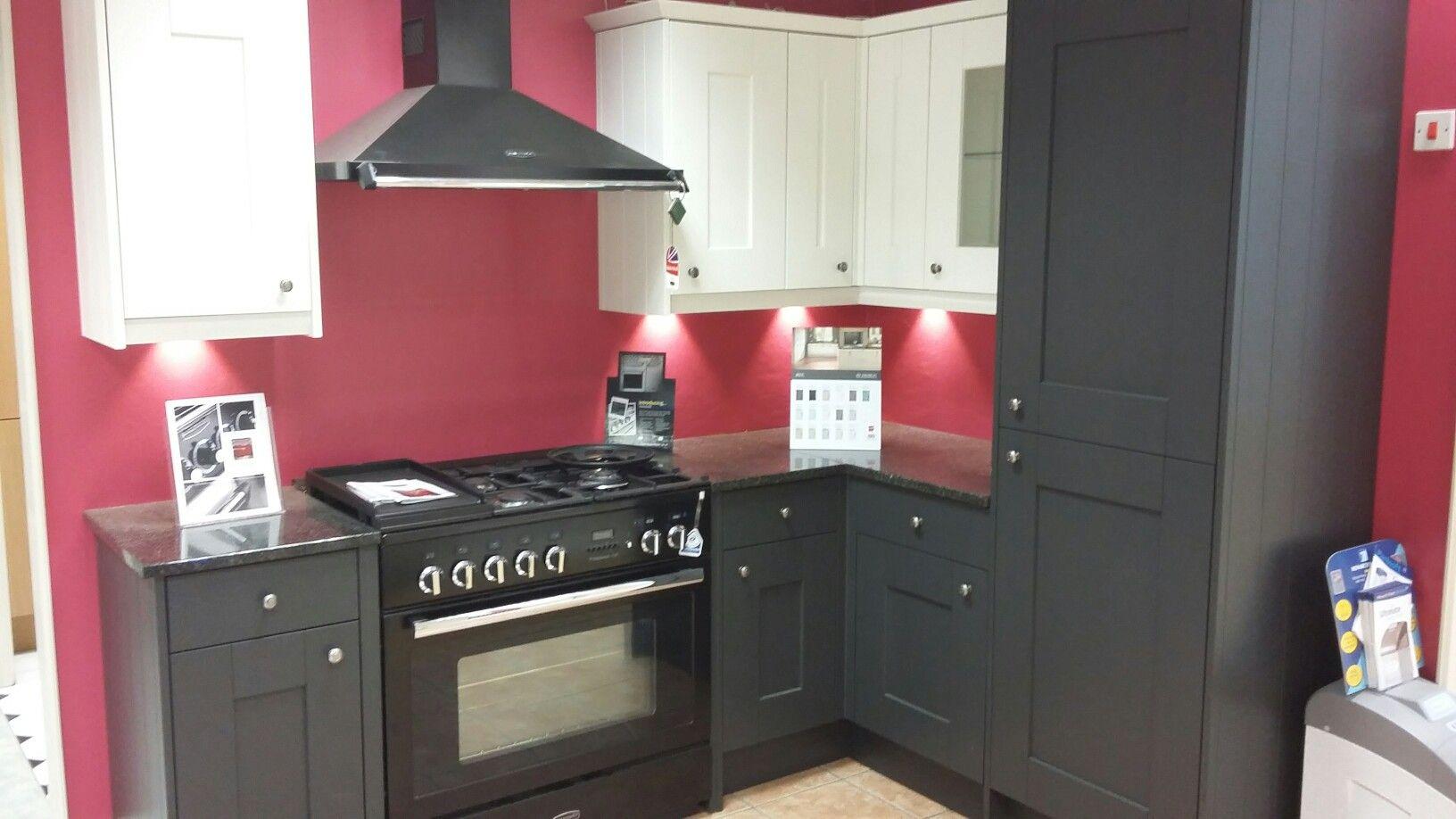 BY DESIGN Rye Painted kitchen with Rangemaster Appliances