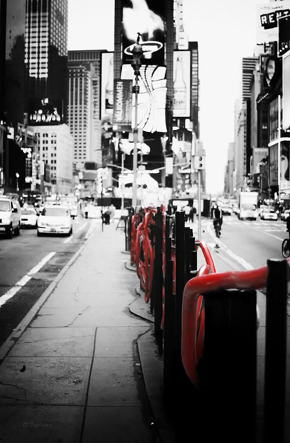 New York - Times Square Black And White Photography With Color Accents  Photograph - New York - Times Square Black And White Photography With Color  Accents ...