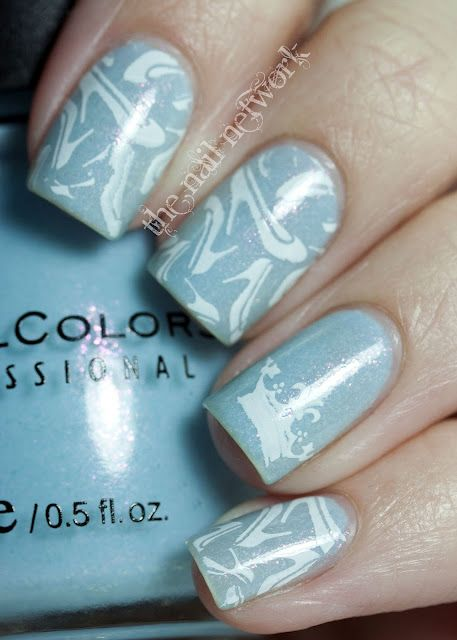 Cinderella nails.....tiny glass slippers!