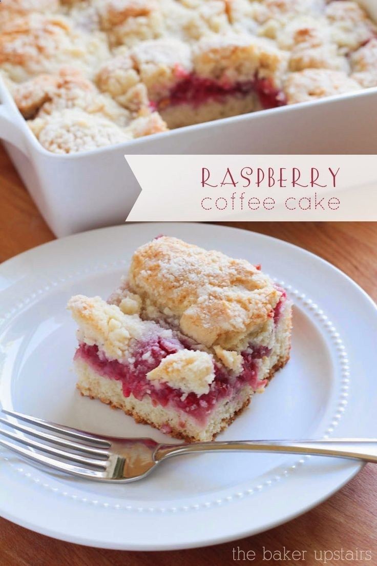 This raspberry coffee cake is so simple and so delicious! http://www.thebakerupsta...