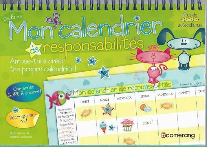 Calendrier de motivation mon calendrier de for Aide organisation maison